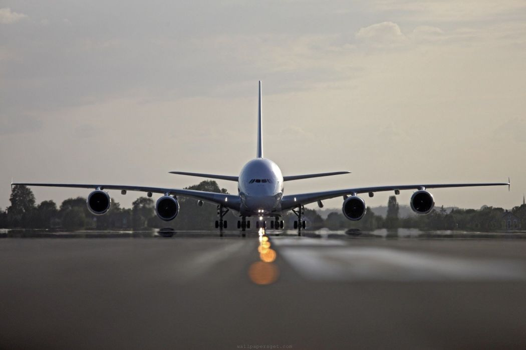 AIRBUS A380 airliner plane airplane transport (10) wallpaper