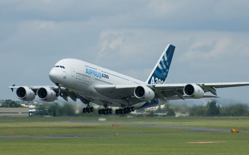AIRBUS A380 airliner plane airplane transport (7) wallpaper