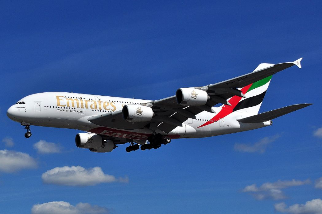 AIRBUS A380 airliner plane airplane transport (2)_JPG wallpaper