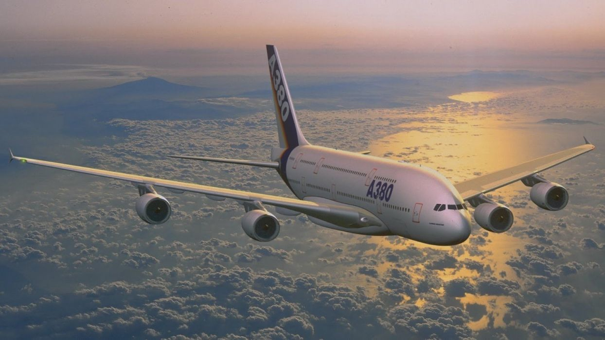 AIRBUS A380 airliner plane airplane transport (17) wallpaper