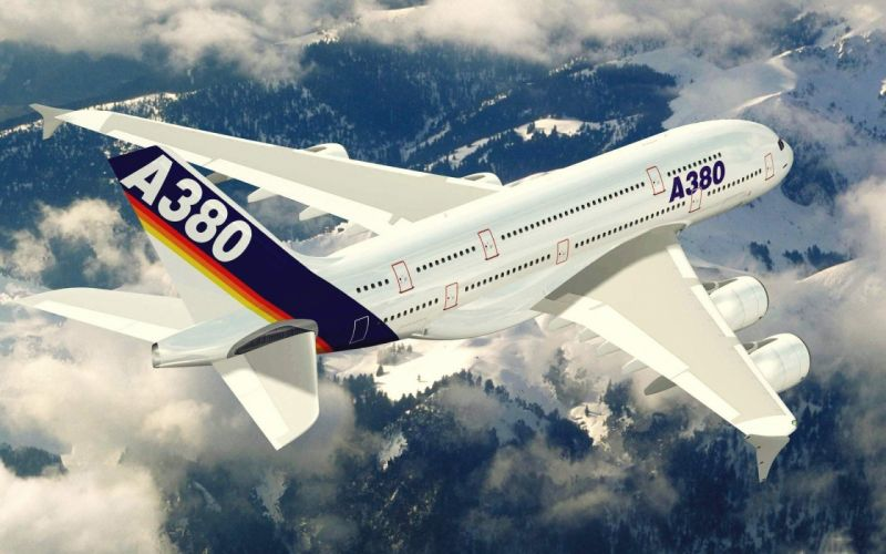 AIRBUS A380 airliner plane airplane transport (19) wallpaper