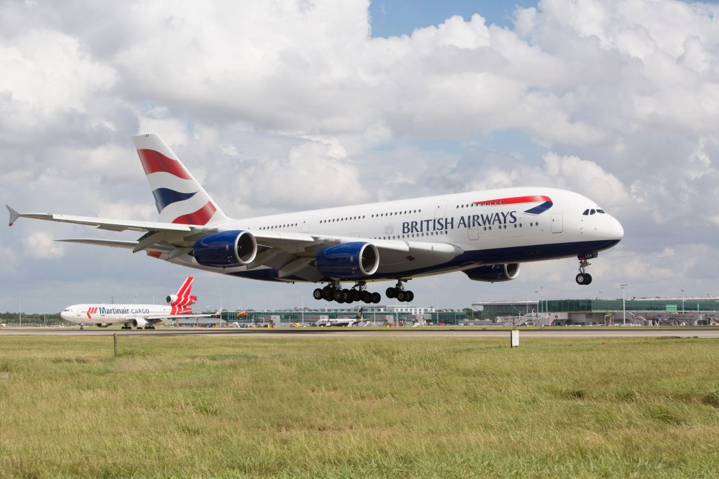 AIRBUS A380 airliner plane airplane transport (24) wallpaper