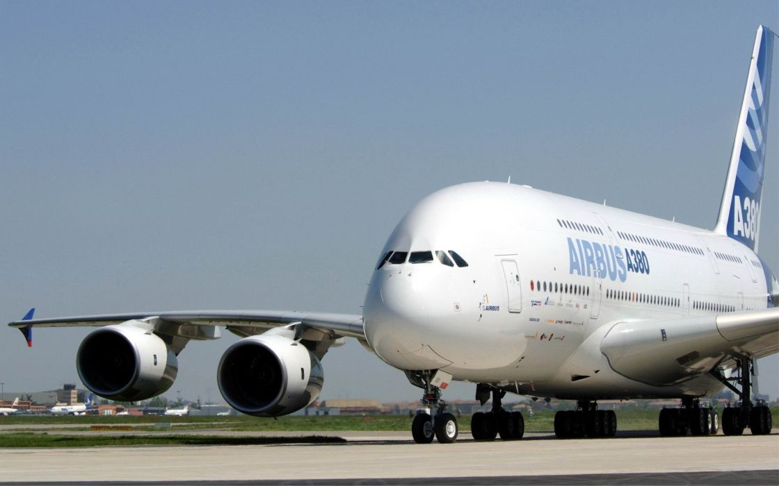 AIRBUS A380 airliner plane airplane transport (31) wallpaper