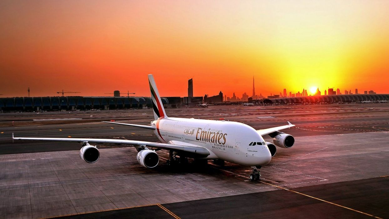 AIRBUS A380 airliner plane airplane transport (30) wallpaper