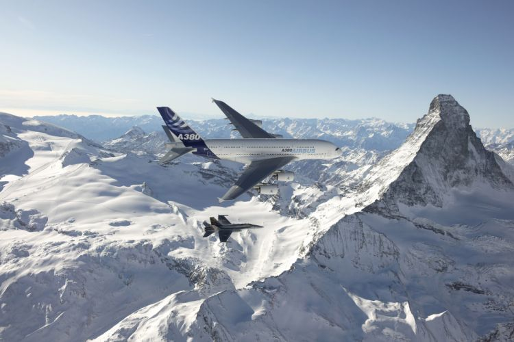 AIRBUS A380 airliner plane airplane transport (26) wallpaper