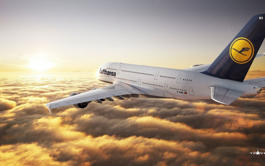 AIRBUS A380 airliner plane airplane transport (36) wallpaper