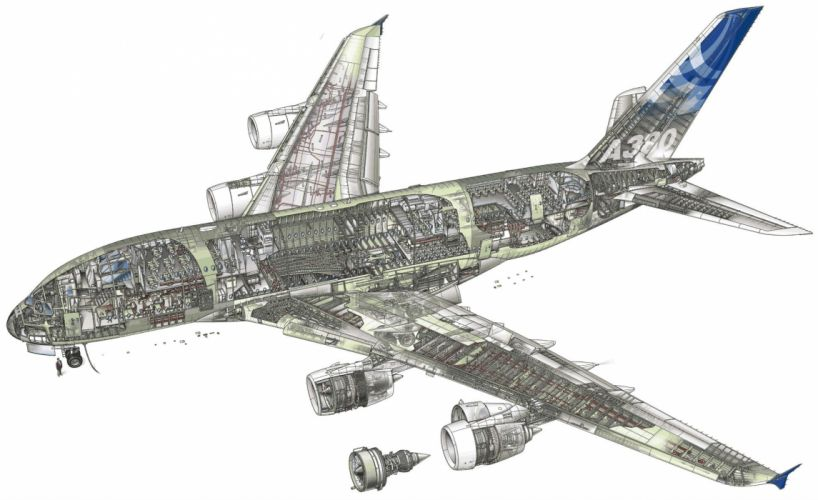 AIRBUS A380 airliner plane airplane transport (46) wallpaper