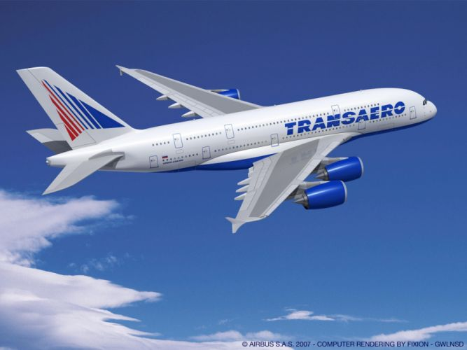 AIRBUS A380 airliner plane airplane transport (62) wallpaper