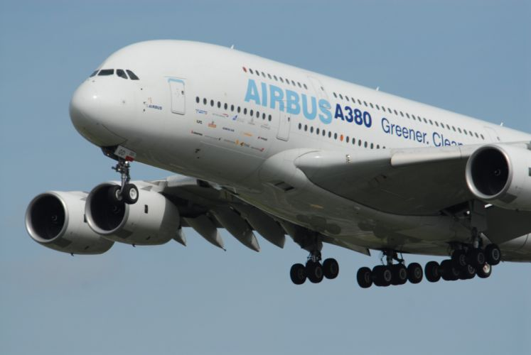 AIRBUS A380 airliner plane airplane transport (61) wallpaper