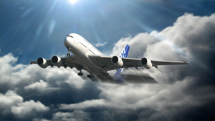 AIRBUS A380 airliner plane airplane transport (73) wallpaper