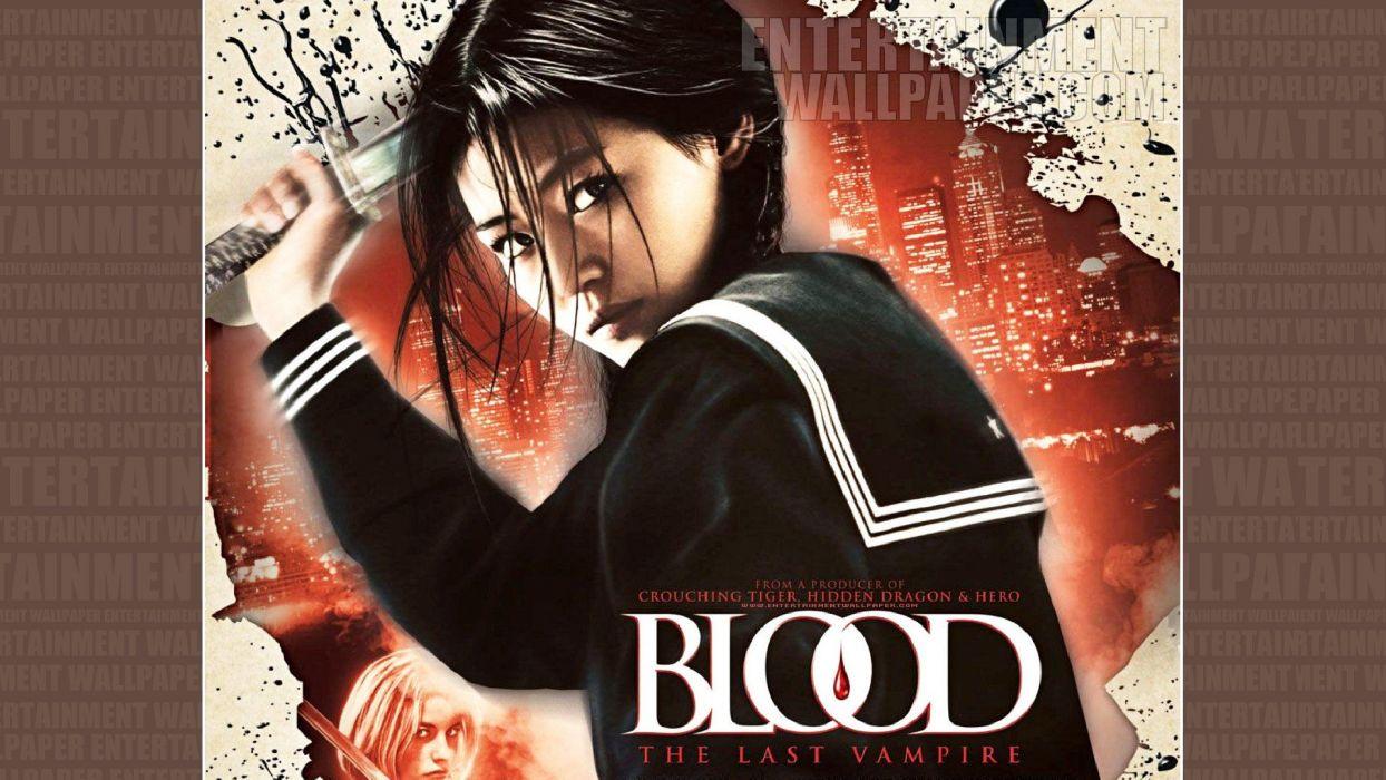 BLOOD LAST VAMPIRE action horror thriller martial warrior samurai (79) wallpaper