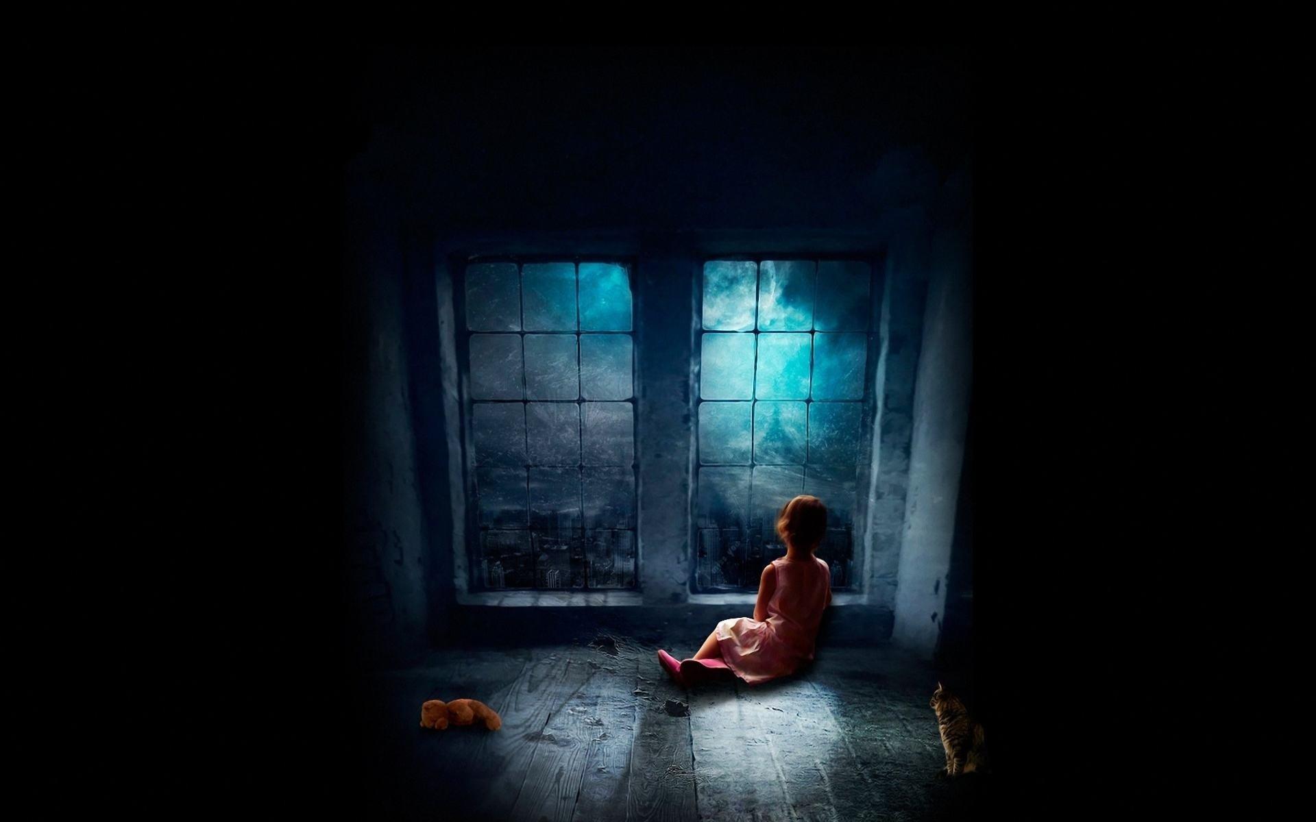 Loneliness dark room france paris mood sad fantasy for Black room wallpaper