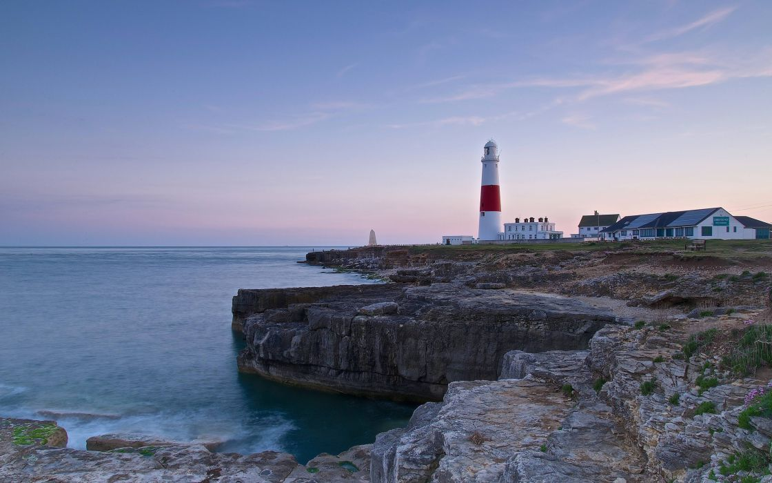English Channel coast lighthouse wallpaper