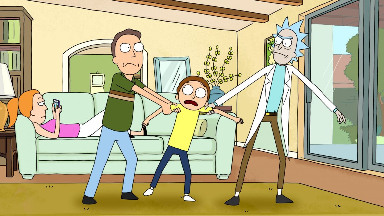 RICK ANG MORTY comedy family sci-fi cartoon (3) wallpaper
