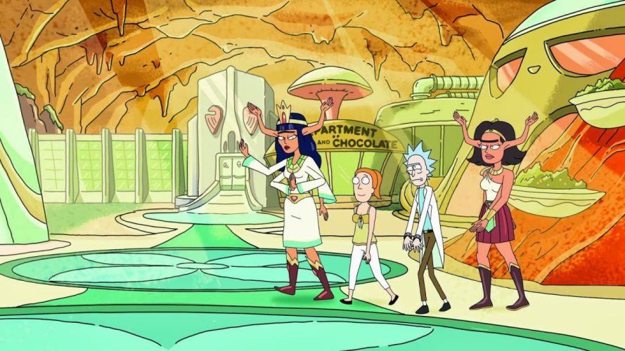 RICK AND MORTY comedy family sci-fi cartoon (1) wallpaper