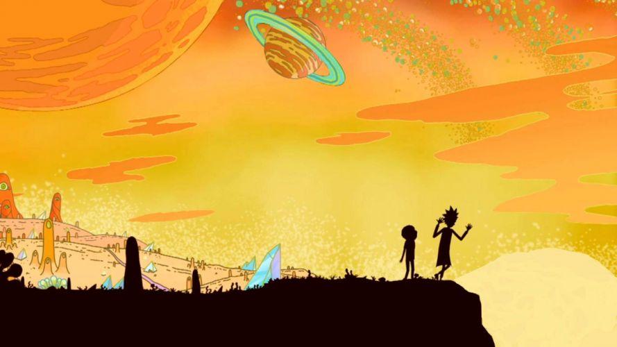 RICK AND MORTY comedy family sci-fi cartoon (9) wallpaper