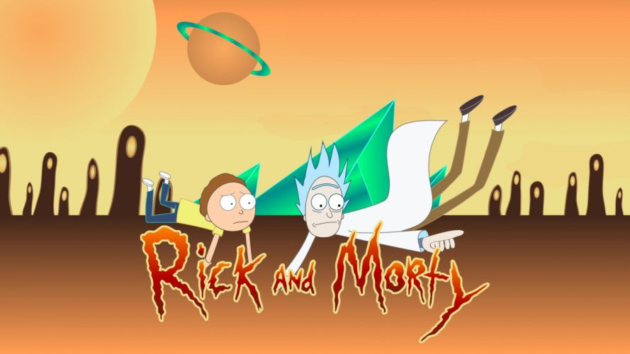 RICK AND MORTY comedy family sci-fi cartoon (13) wallpaper
