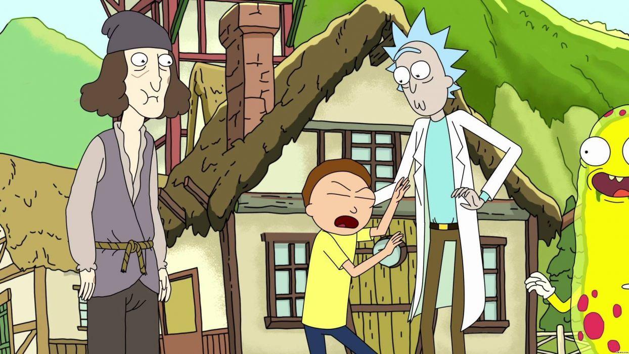 RICK AND MORTY comedy family sci-fi cartoon (18) wallpaper