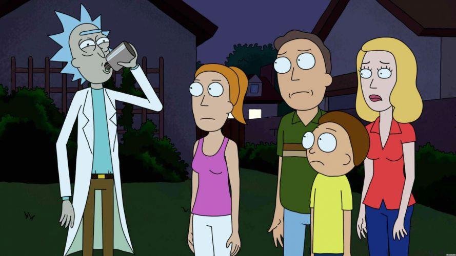 RICK AND MORTY comedy family sci-fi cartoon (19) wallpaper