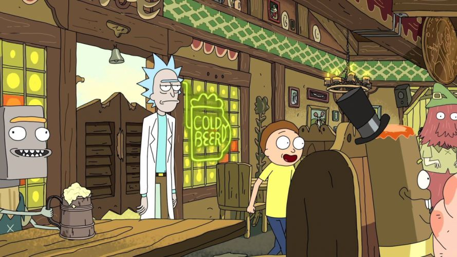 RICK AND MORTY comedy family sci-fi cartoon (37) wallpaper
