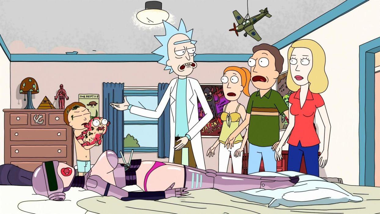 RICK AND MORTY comedy family sci-fi cartoon (44) wallpaper
