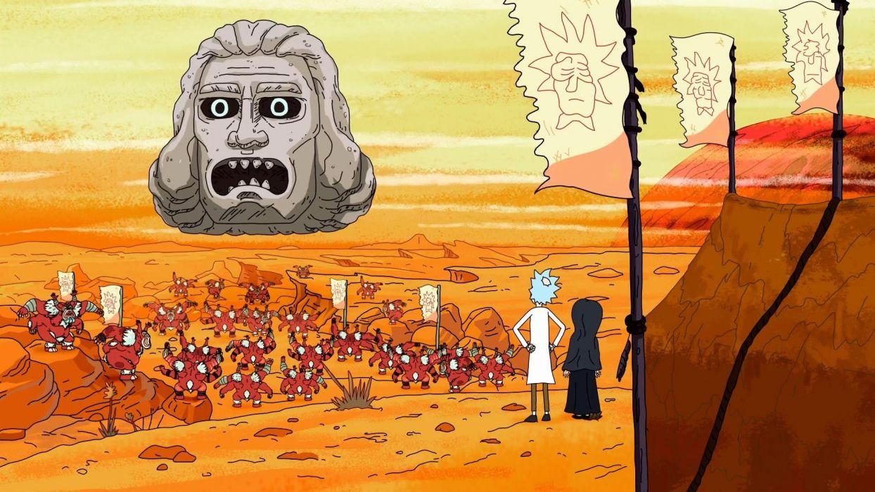 RICK AND MORTY comedy family sci-fi cartoon (45) wallpaper