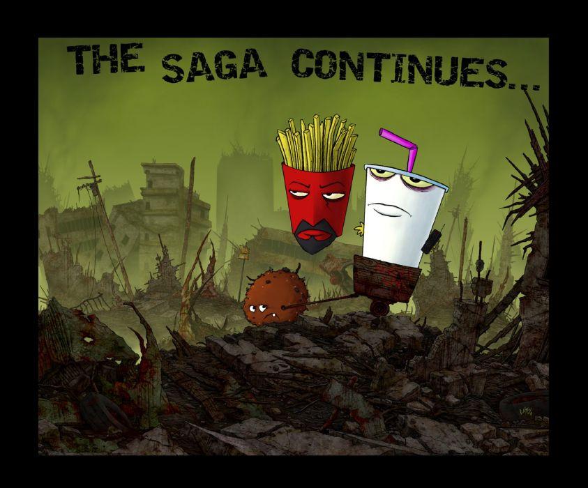 AQUA TEEN HUNGER FORCE comedy family cartoon (1) wallpaper