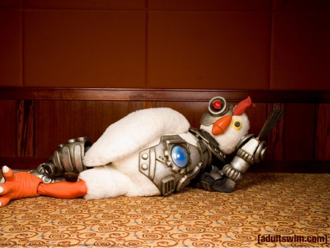 ROBOT CHICKEN comedy family sci-fi cartoon (11) wallpaper