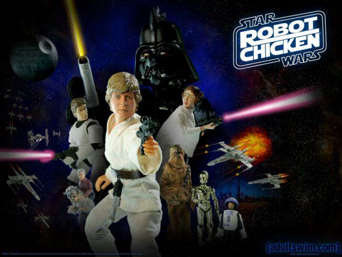 ROBOT CHICKEN STAR WARS comedy family cartoon comics cartoon sci-fi (11) wallpaper