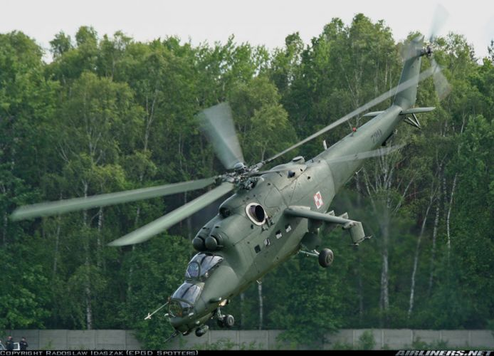 helicopter aircraft attack military army Poland mil-mi wallpaper