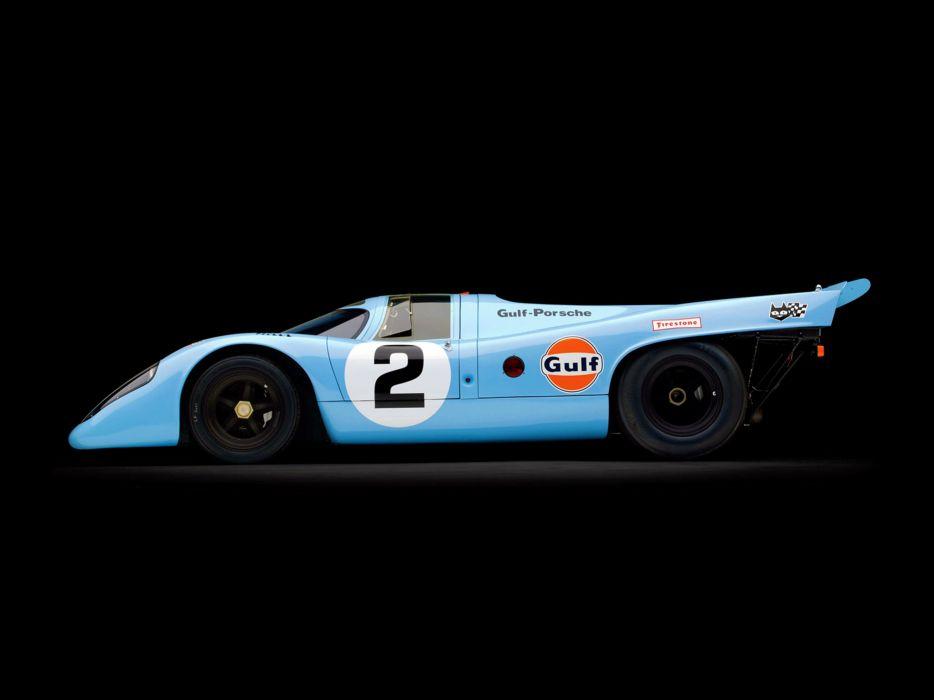 1970 Porsche 917 Race Car Spercar Germany Racing Gulf Le-Mans 4000x3000 wallpaper
