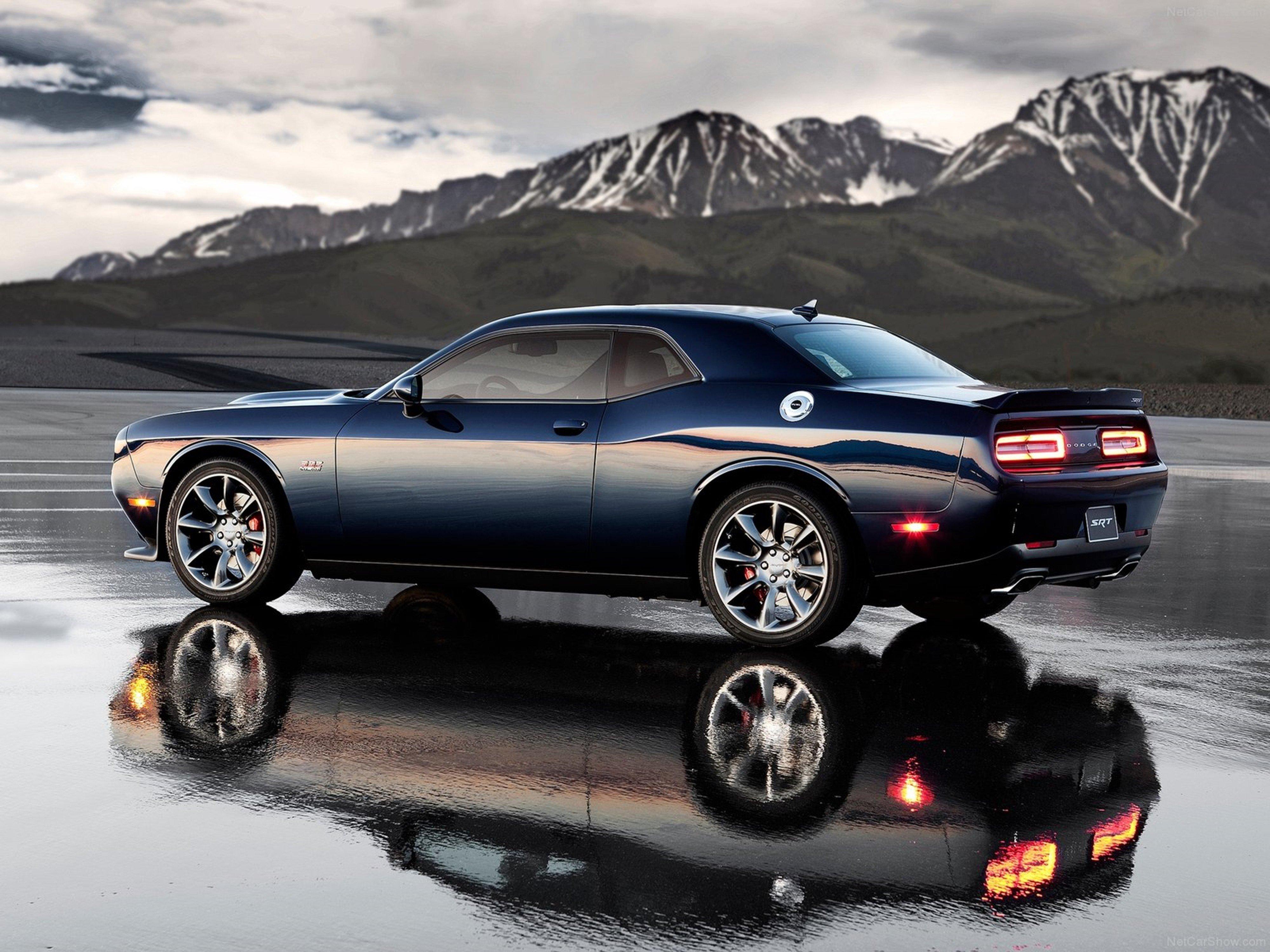 Dodge Challenger Srt Muscle Car Car Sport Black Wallpaper