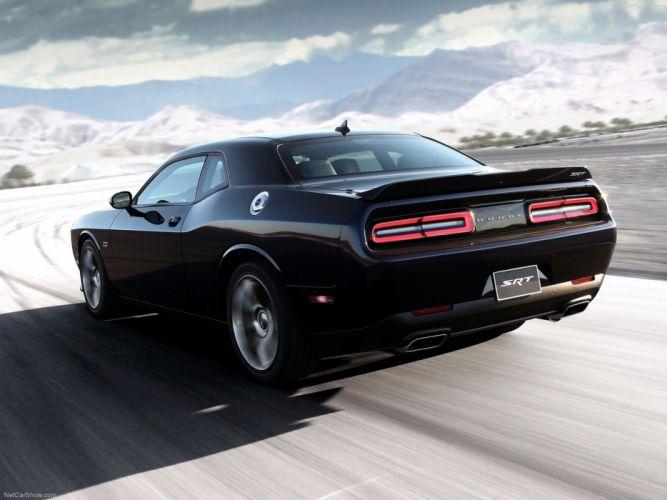 Dodge Challenger SRT 2015 Muscle-Car Car Sport Black Wallpaper 4000x3000 wallpaper