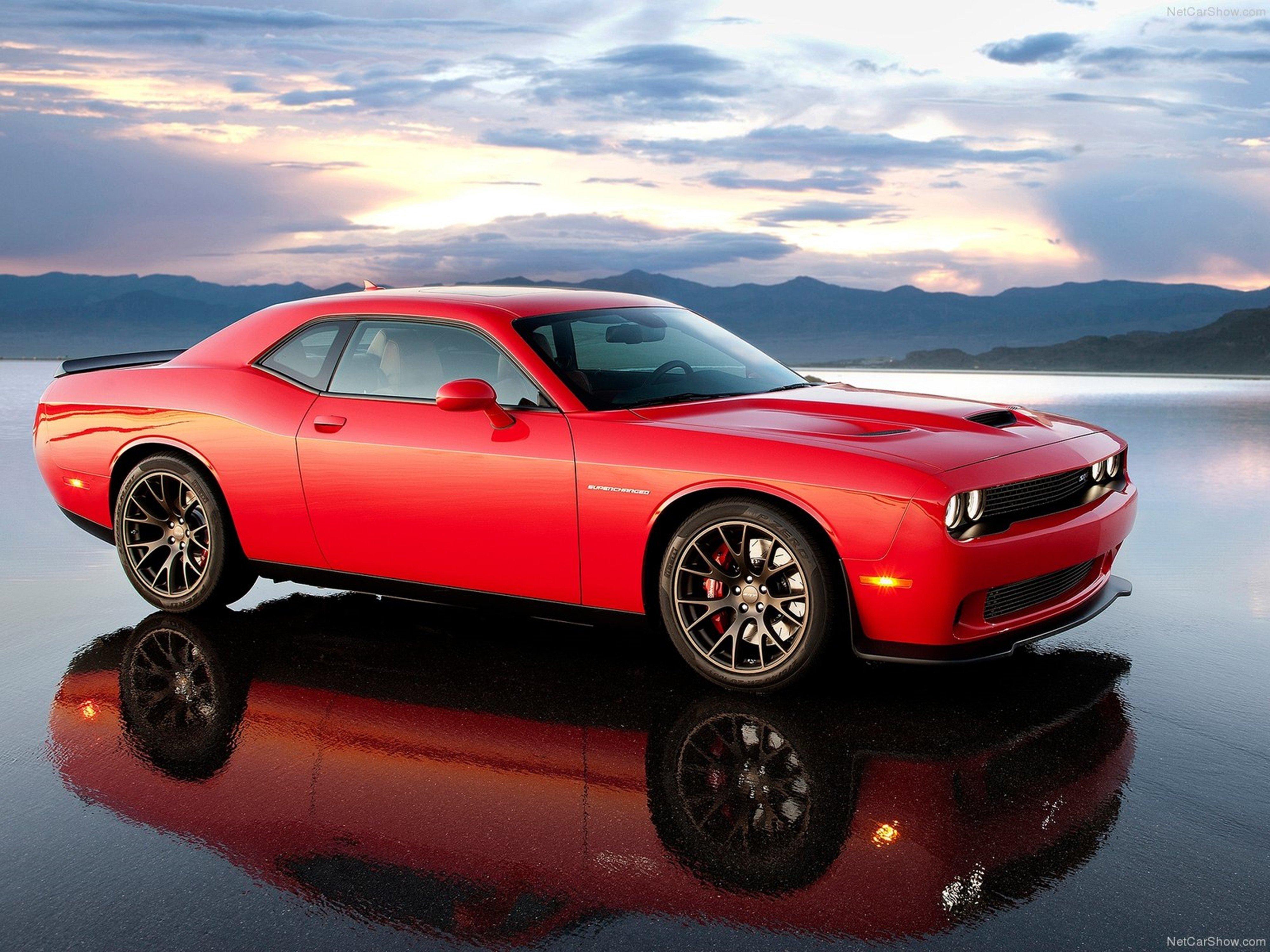 Dodge Challenger Srt Hellcat Wallpaper Red Muscle Car Car Sport