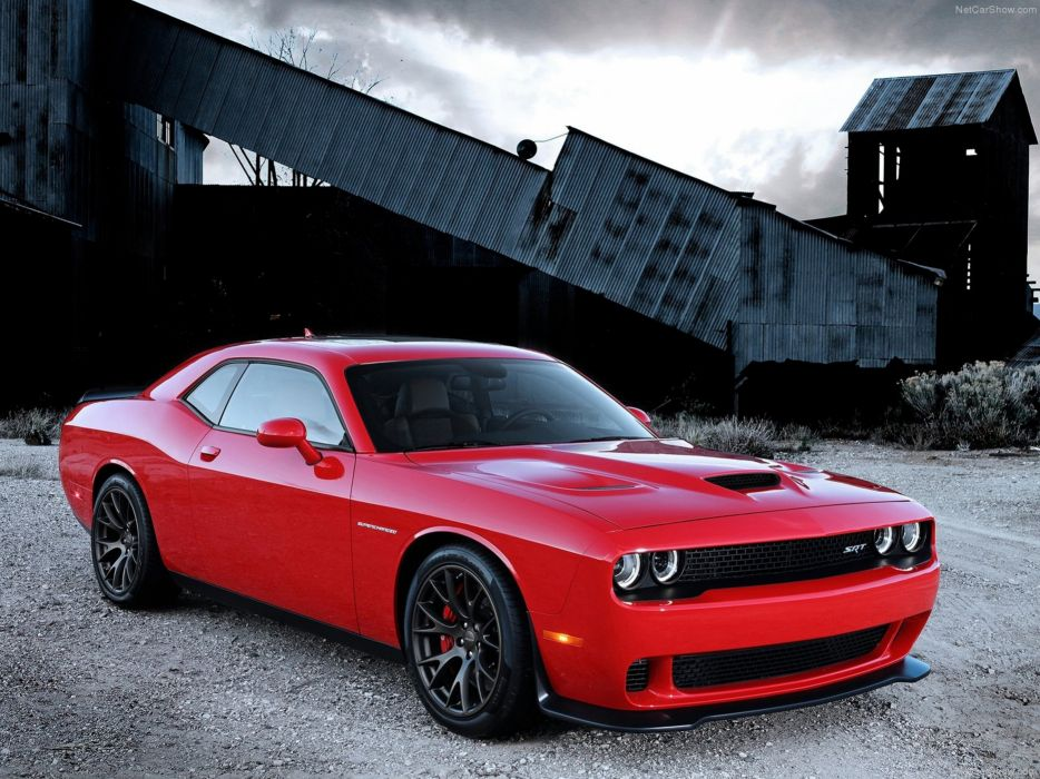 Dodge Challenger SRT Hellcat Wallpaper Red Muscle-Car Car Sport 4000x3000 wallpaper