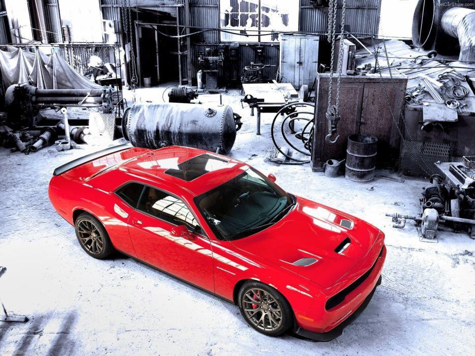 Dodge Challenger SRT Hellcat Wallpaper Red Muscle-Car Car Sport 4000x3000 wallpaper