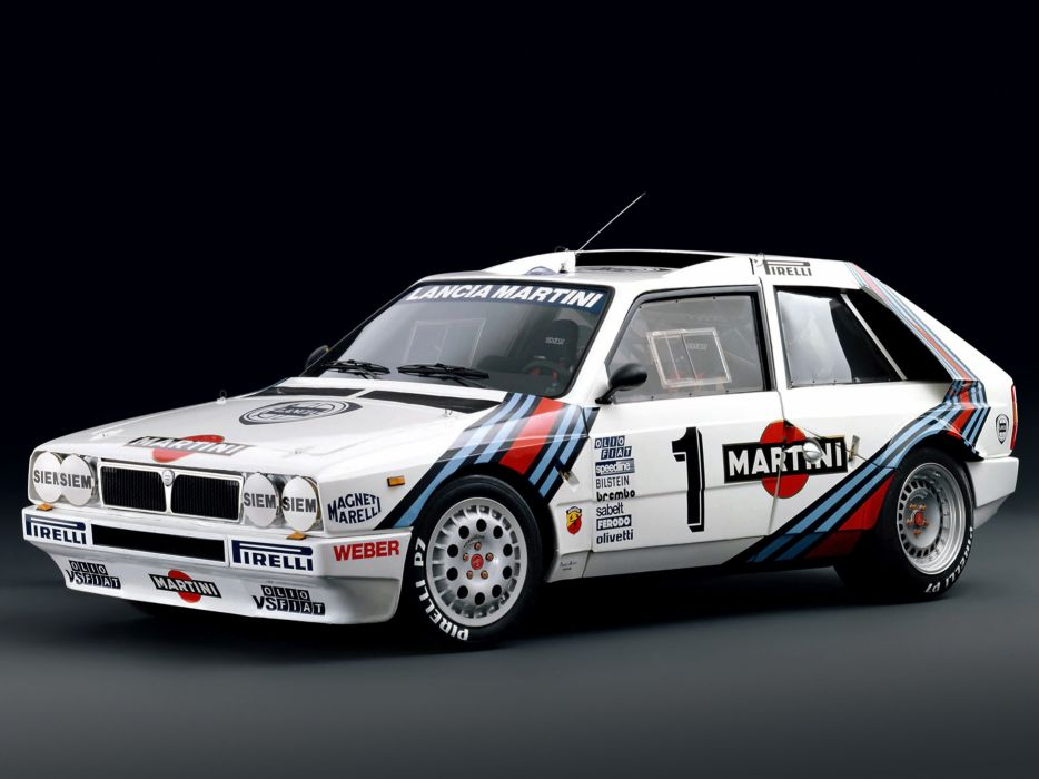 1985 Lancia Delta-S4 Race Car Racing Rally Martini Italy 4000x3000 wallpaper
