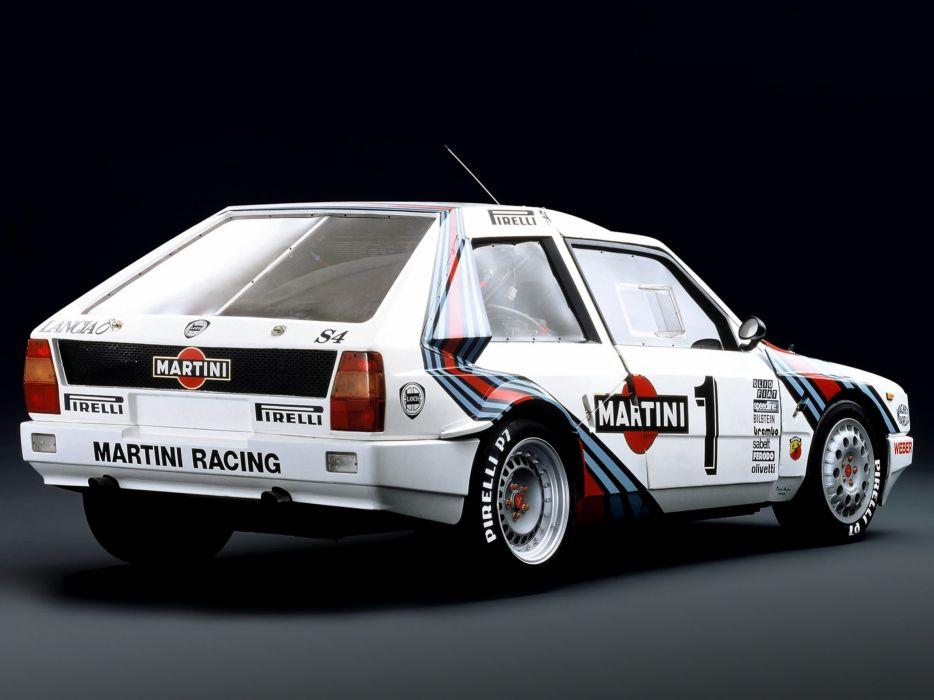 1985 Lancia Delta-S4 Race Car Racing Rally Martini Italy 4000x3000 wallpaper