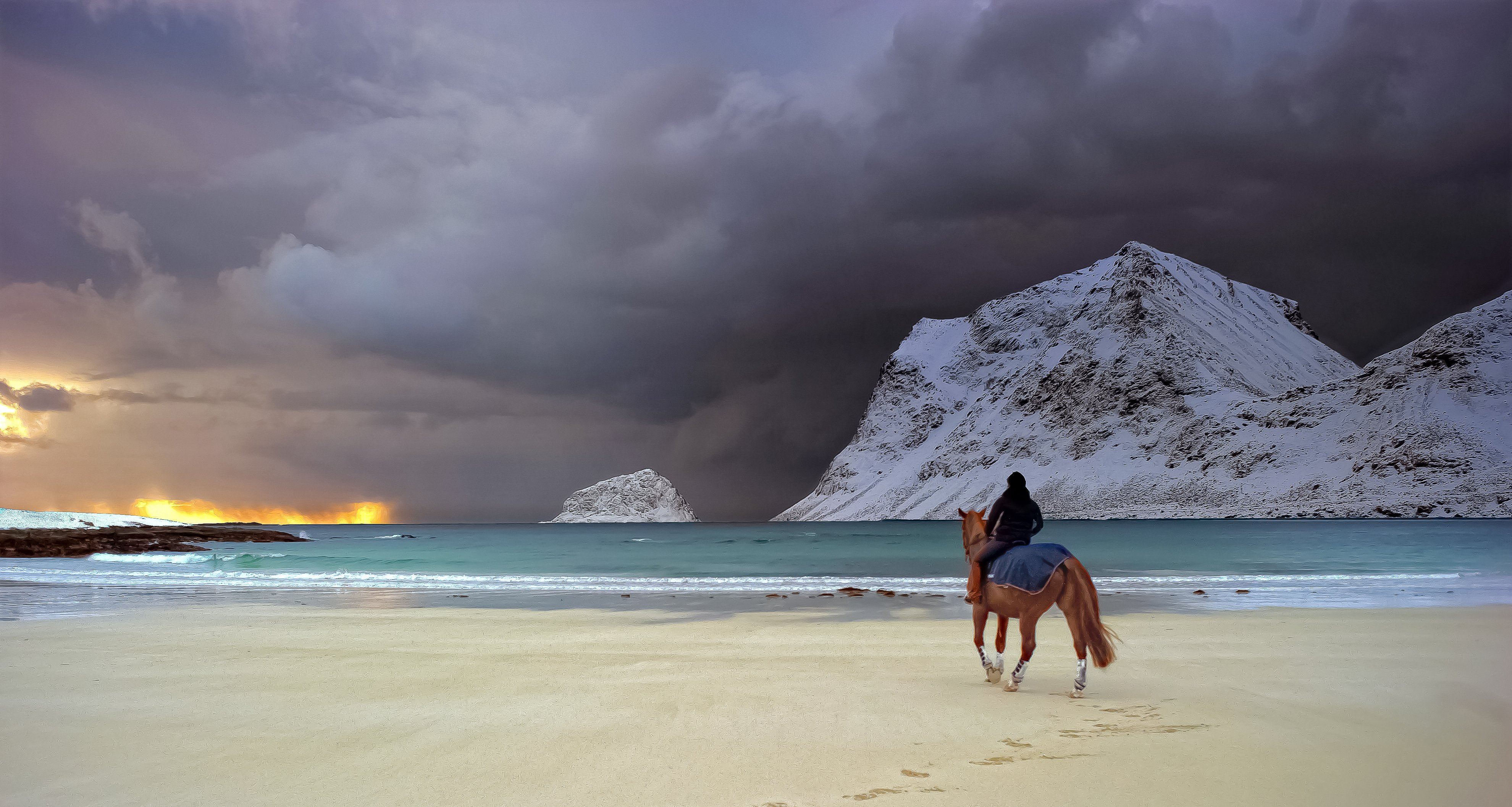 island mountain horse wallpaper - photo #16