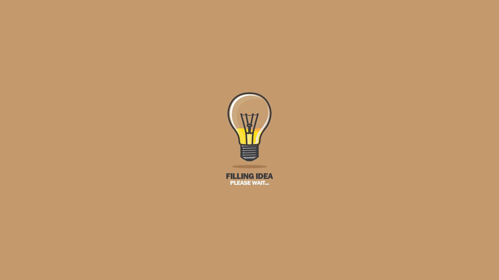 lightbulb idea wallpaper 1600x900 360324 wallpaperup