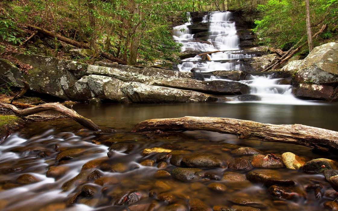 Waterfall Rocks wallpaper