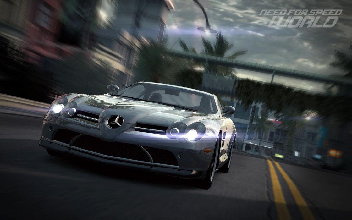 video games cars Need for Speed World games Mercedes-Benz Mercedes-Benz SLR McLaren pc games wallpaper