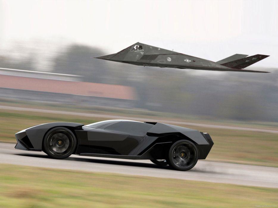 Lamborghini Ankonian Concept Black Design Slavche Tanevski 2011 Car Supercar Italy 4000x3000 wallpaper