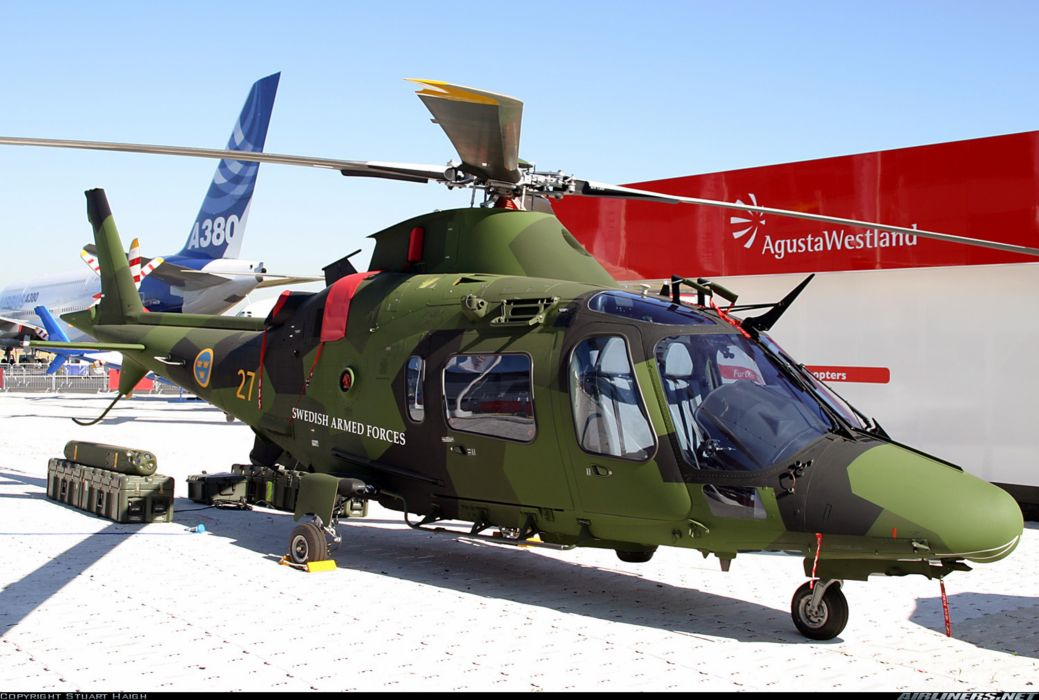 helicopter aircraft Sweden military army agusta westland wallpaper