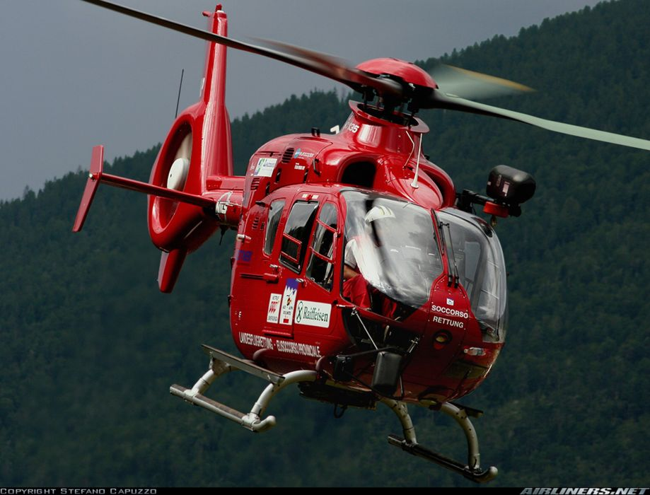 helicopter aircraft red eurocopter ec-135 wallpaper