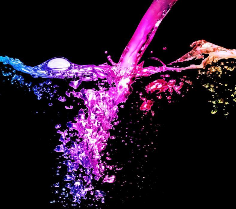 multicolor water wallpaper