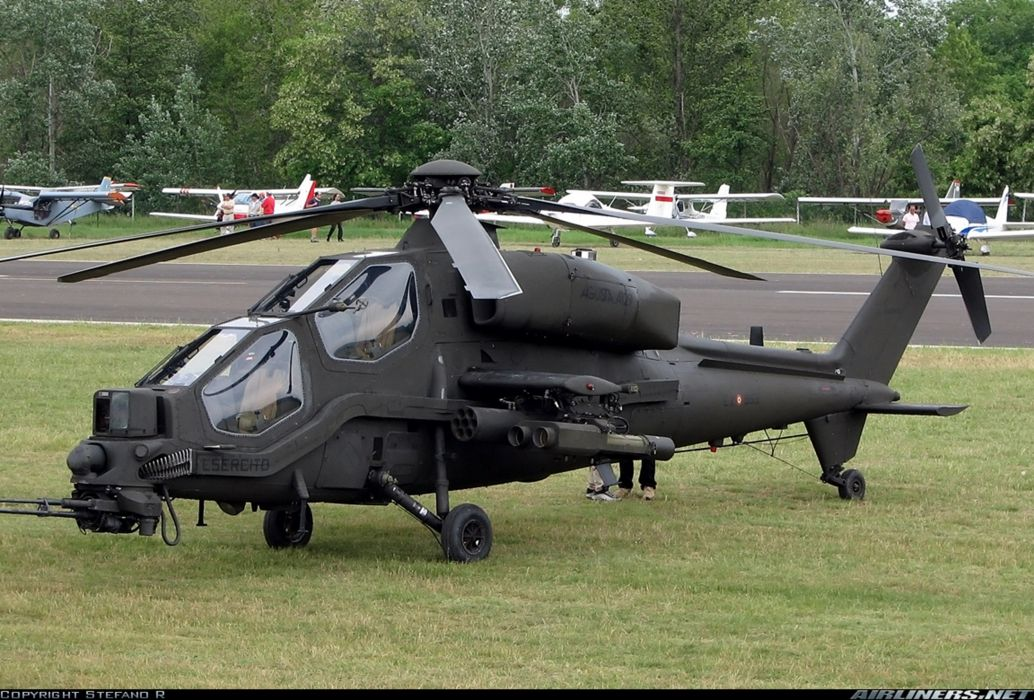 Helicopter Aircraft Military Army Attack Agusta A129 Mangusta Italy wallpaper