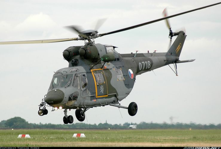 Helicopter Aircraft Military Army Transport Czech-Republic wallpaper