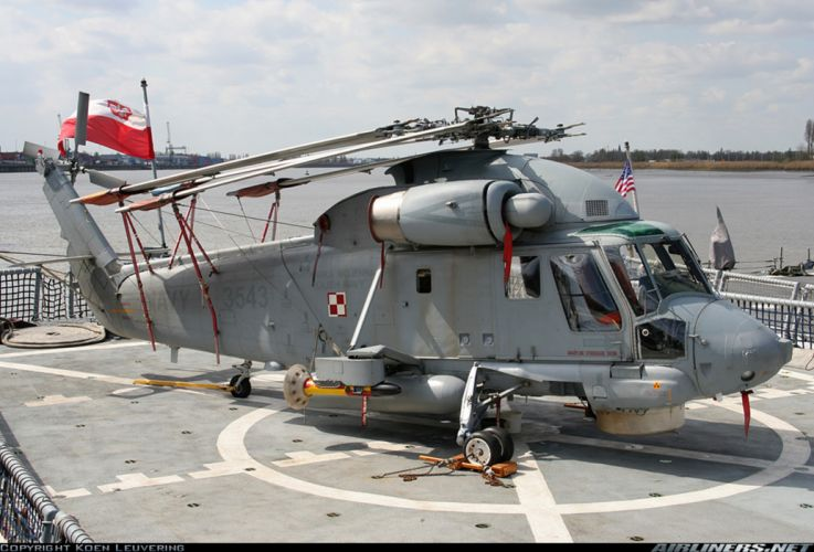 Helicopter Aircraft Military Navy Poland Transport wallpaper