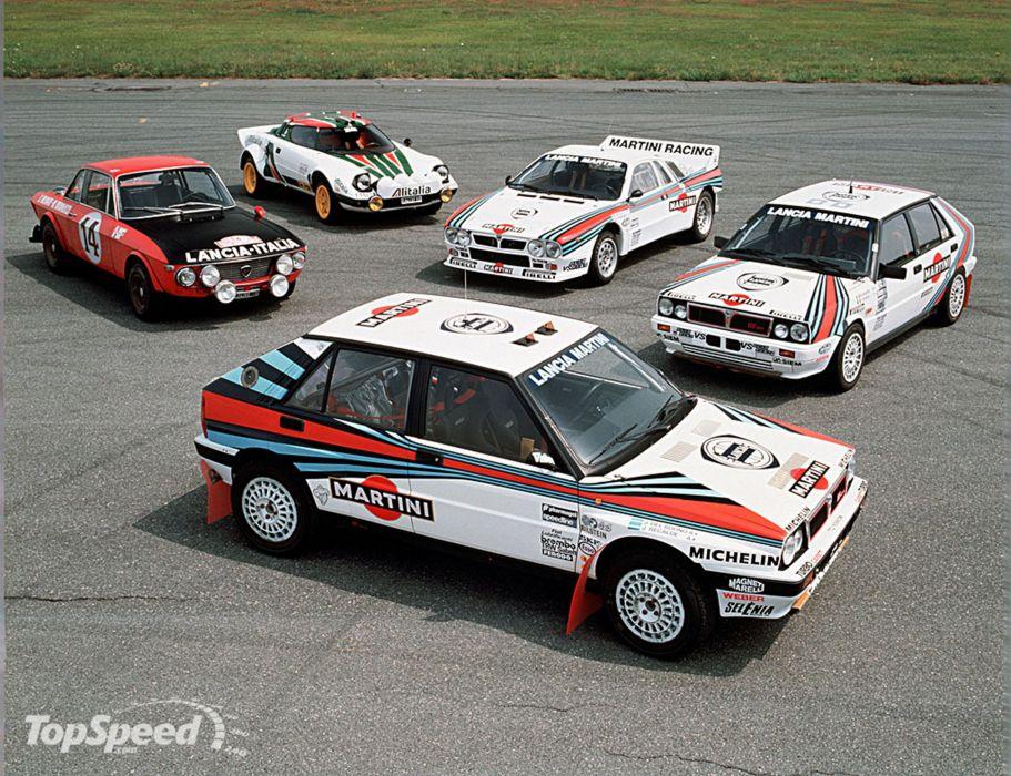 Race Car Racing Lancia Delta Fulvia Stratos Martini Italy Rally wallpaper